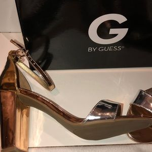Guess 3 tone heels (wore once) size 9 with box